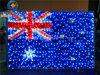 Bandeira nacional de Austrália para a luz ao ar livre do motivo do diodo emissor de luz da decoração 220V/110V