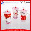 De Witte Ceramische Mok van uitstekende kwaliteit van de Koffie met Af:drukken en Deksel