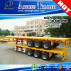 3 차축 20ft 40ft Flatbed Container Transport Semi Trailer