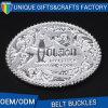 Curvatura de correia personalizada do metal do logotipo 3D para o homem
