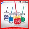 Tarros de masón decorativos de consumición coloreados del bulto de la compra de la etiqueta