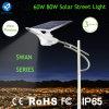 Lámpara de calle solar del LED con el regulador ligero