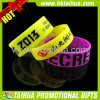 Promotion coutume de bracelets de silicones de 1 pouce (TH-band013)