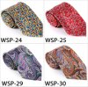 Cravate imprimée par /Polyester à la mode Wsp-24 de soie de 100%