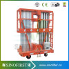 fournisseurs verticaux hydrauliques de levage d'alliage d'aluminium de 6m