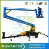16m 10m Hydraulic Three Wheels Stable Towable Arrastado Cherry Picker