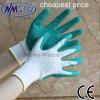 Nmsafety Зеленый латекс покрытием труда работы перчатка