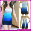 off-Shoulder Bandage Dress 2015 оптовое сексуальное Women Bodycon Celebrity Dress Rainbow для Women (D002696)