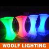 LED 자전 유리제 최고 중심 커피용 탁자 디자인