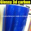 Новое Arrival Glossy 3D Carbon Fiber Film
