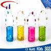 Suporte de vela de vidro de Tealight da forma colorida do cilindro (CHZ8033)