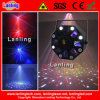 3 in 1 RGB LED + laser Party Light di White Strobe+ 8 Patterns Mini