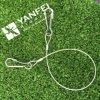 Bride de câble métallique de solides solubles 316 avec le crochet mou de simplex d'oeil