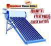 Géiser solar solar compacto del calentador de agua caliente de la presión inferior/del tubo de vacío de Unpressure