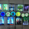La pared cristalina de la exhibición de la caja ligera del LED