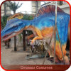 Costume caché mécanique de dinosaur de pattes d'exposition d'étape