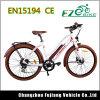 Le ce outrepassent la bicyclette électrique du vélo E de ville de femmes