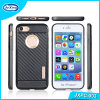 PC TPU 2 van de manier in 1 Sheild Hybrid Combo Armor Carbon Fibre Case voor iPhone 6 Hybrid Cover