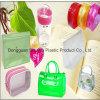 Bolso suave reutilizable de la cremallera del PVC con la insignia para el cosmético del embalaje