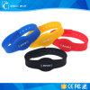 Wristband riutilizzabile del silicone di 13.56MHz RFID, braccialetto