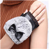 Перчатки повелительниц причудливый кожаный Fingerless или перчатки перста управляя с шерстью все, котор виды перчаток держат теплым в зиме
