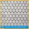 Mosaico de mármol blanco natural de la pared de piedra de Carrara, azulejos de mosaico blancos