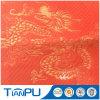 赤いカラー中国のドラゴンPUの上塗を施してある防水ジャカードファブリック