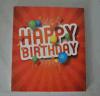 Diseño video del folleto de 5 pulgadas para la invitación, tarjeta de felicitación