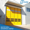 Dobrar acima a porta de alta velocidade empilhada PVC automática industrial elétrica