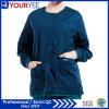 Изготовленный на заказ фронт кнопки подогрева Workwear медицинского соревнования стационара Scrub куртка (YHS114)