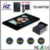 Sensitivity elevado Touch Key 2.4GHz 7 Inch Color Solar Video Door Intercom com Solar Charger