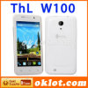 Android 4.2.2 da tela 960*540 da ROM 4.5  IPS do RAM 4GB dos núcleos 1GB do quadrilátero de Thl W100 MTK 6589 do telefone móvel