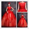 赤く新しい到着の写真のShottingのウェディングドレス