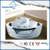 Banheira branca de canto da massagem do Whirlpool (AB0839)