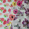tela do Voile 100%Cotton para os fatos com a flor impressa (60X60/90X88)