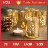 Ideas de cristal de la decoración del sostenedor de vela de Tiffany del Mercury del oro