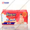Starr Brand High Absorbency Disposable Baby Diaper avec du PE Tape