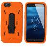 Water de alto impacto Wave Pattern Silicone Kickstand Caso Hybrid Cover para para iPhone6/6plus