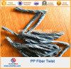 Fibra arracimada reforzada concreta de la torcedura del polipropileno de los PP de las fibras