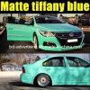 Tiffany opaco Blue Car Wrap Film con Air Free Bubbles