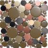 2016 vidrios redondos coloridos embaldosan el mosaico para la decoración de la casa (M1390)