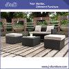 Jogo de vime da mobília do pátio ao ar livre do Rattan do PE, sofá do jardim + assento para pés ajustado (J382-C)