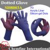 7g Синий акрил трикотажные перчатки с красной кремния-гель Dots