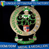 Medaglie su ordinazione del codice categoria del mondo dell'argento e del bronzo del medaglione della medaglia del metallo