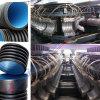 Riga ondulata doppia di Producion del tubo dell'HDPE di plastica (DWCP-500)