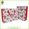 Bolsa de papel del regalo de la impresión del corazón con la maneta de la cinta
