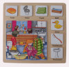 Brinquedos de madeira do enigma de madeira educacional (34775)