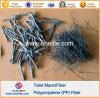 PP Twist Fiber PP Fibre ondulée au lieu de la fibre d'acier