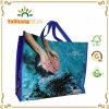 Рециркулированный рекламой прокатанный BOPP мешок Eco зеленый сплетенный PP, PP сплетенный мешок полипропилена