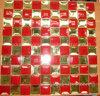 赤い組合せの金のダイヤモンドのガラスミラーのモザイク・タイル(HD057)